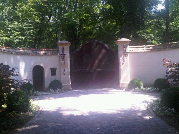 Back Gate Entrance At His Old Chateau Home