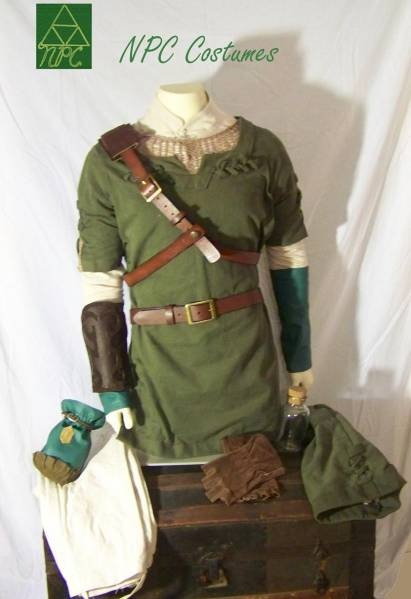 New The Legend of Zelda Twilight Princess : Link's green tunic complete cosplay costume by NPC Costumes.