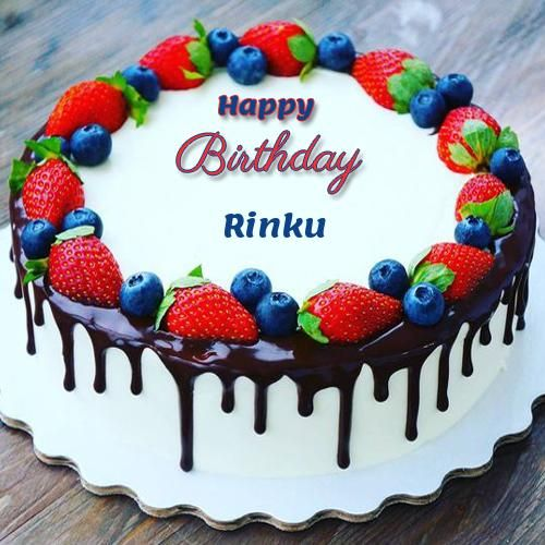 Write Name On Birthday Cake Pic Wrapped By Ribbon Happy