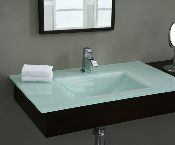 Image Gallery For Website GSTWT Glass Top White with Square Bowl Xylem Here it is Bathroom Vanity