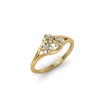 custom made engagement ring with diamond for men and women with name engraved - Indian Wedding Rings