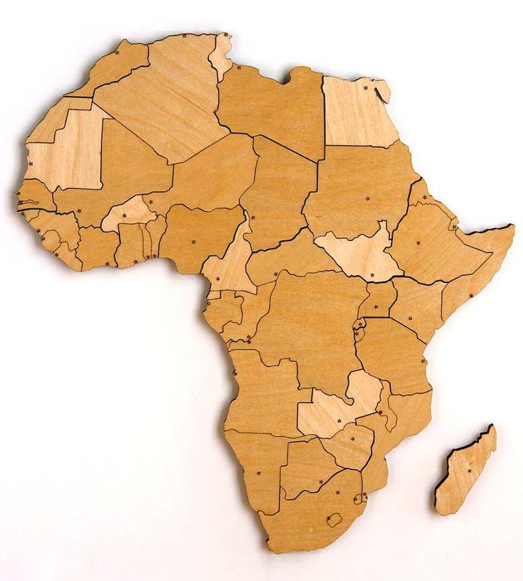 via BKLYN contessa :: Africa Magnetic Wood Map Puzzle   Art Pieces   Steven Mattern Design + Build
