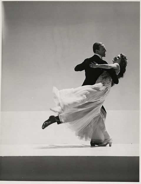 "Rita Hayworth and Fred Astaire in "" You were never lovelier."""