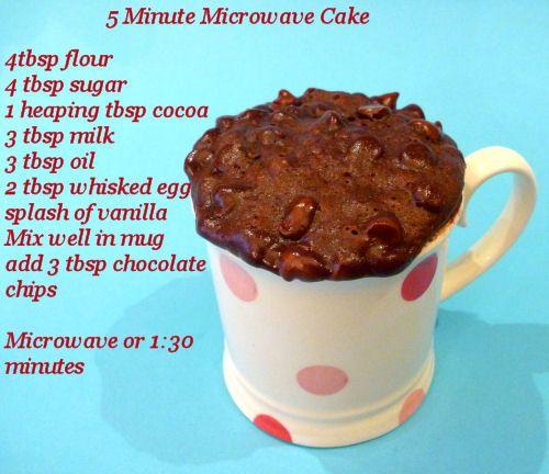 5 Minute Microwave Cake - thegardeningcook....finally i found it