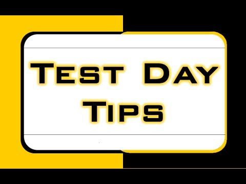 Learn how to be prepared on your test day and reduce your test day anxiety.