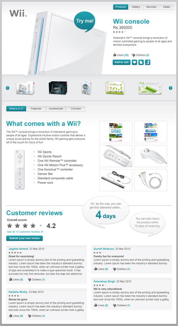 IndiaTimes.com - Product detail page