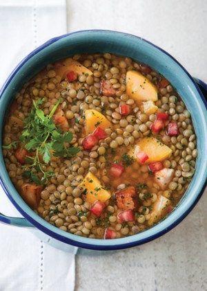 Receta de sopa de lentejas - Receta fácil de la cocina mexicana
