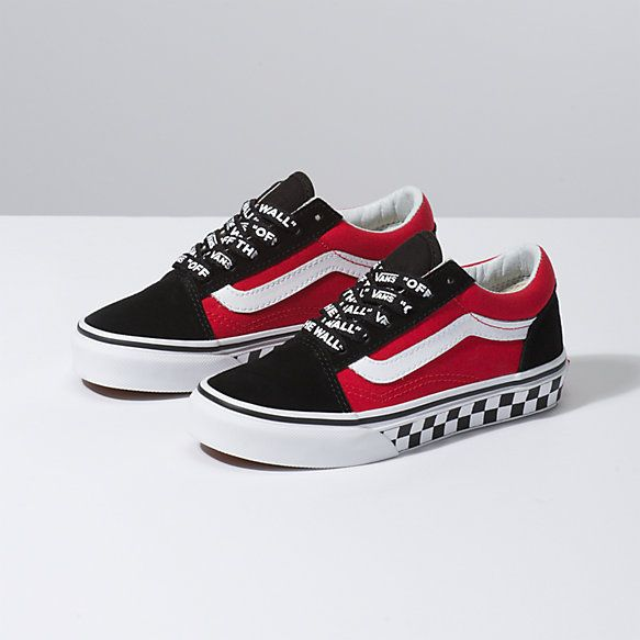 vans shoes for boys red