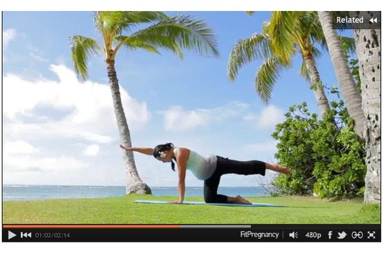 Prenatal #yoga - Hands & Knees Yoga Flow video.