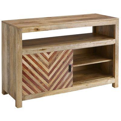 """Kadhi Chevron Mango Wood 50"""" TV Stand"""
