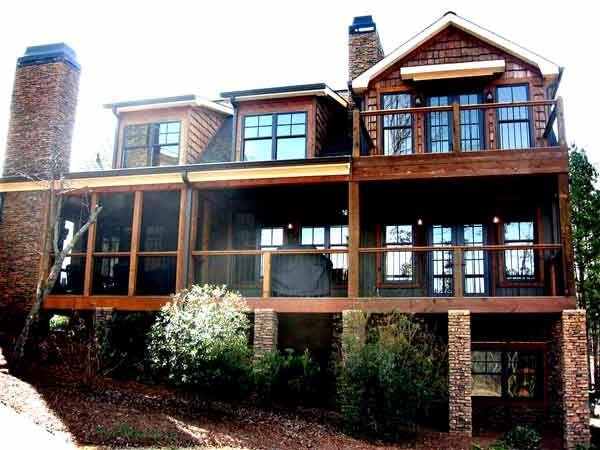 Less than 2000 sq feet riverbend house plan lake floor for Corner lot house plans