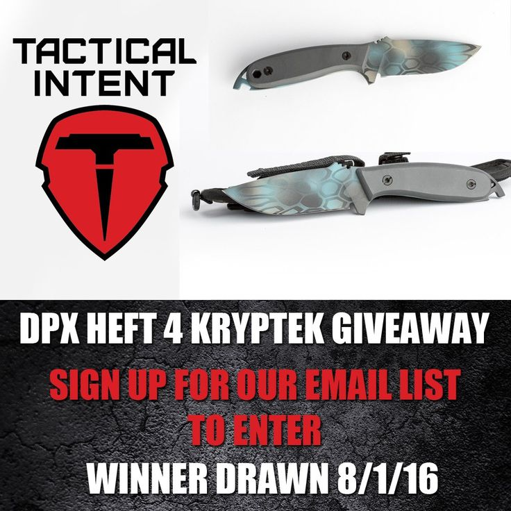 Subscribe for email updates, any new subscriber between now and August 1st is eligible to win. http://tacticalintent.com/newsletter Knife stats here - http://tacticalintent.com/dpx-heft-4-assault-custom-blue-kryptek-limited-production-of-15.html