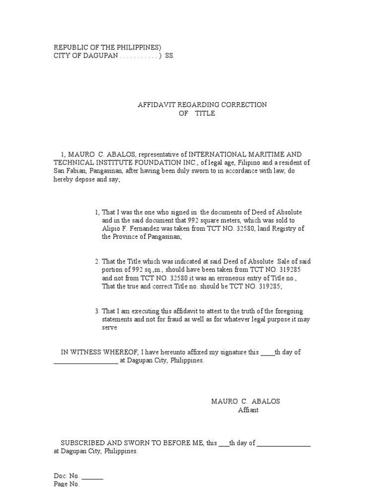 affidavit correction birth certificate letter credit Home Design - affidavit of truth template