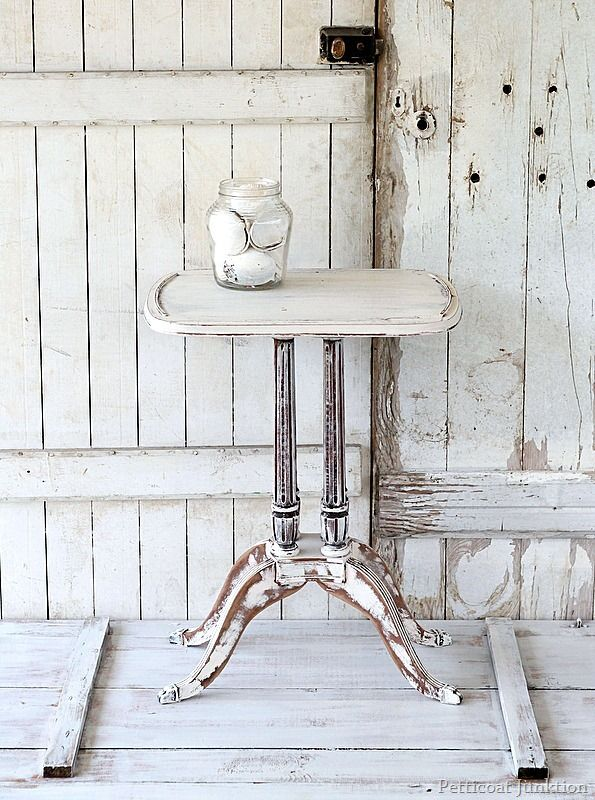 Shabby Chic Table / 5 Days Of White Furniture. | Love the doors too...