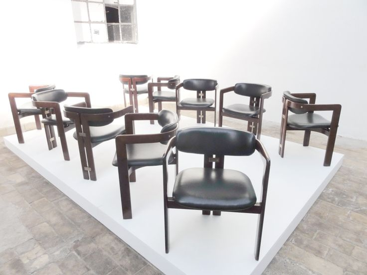 8 Augusto Savini Dining Chairs In Amaranto Hardwood U0026 Leather. Modern  Dining Room ...