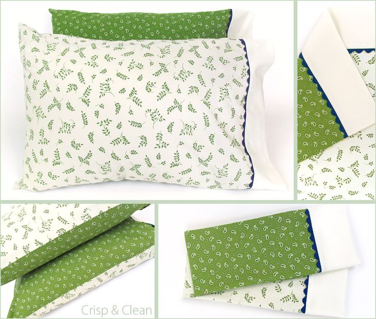 DIY tutorial. With only one extra sewn seam Reversible Pillowcases. Great as\u2026
