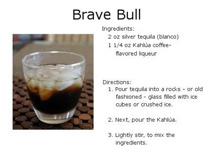 Black ring: Brave Bull recipe card.