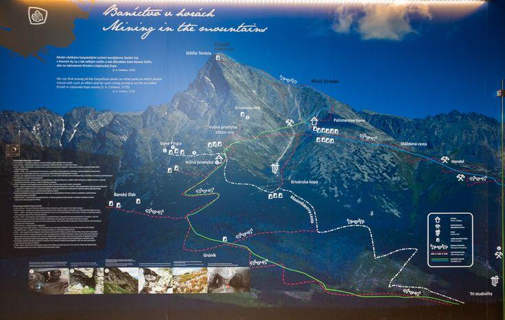 História baníctva na Kriváni: Takúto mapu nájdete v Slovenskom múzeu a ochrany prírody a jaskyniarstva v Liptovskom Mikuláši.