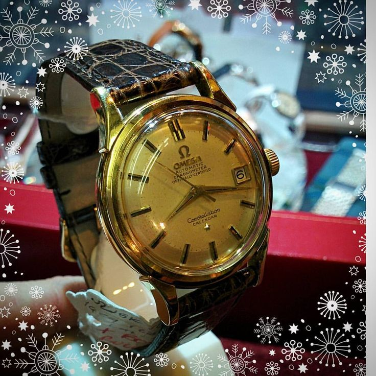 Just added to our Christmas sale is this all original 18ct gold Omega Constellation automatic chronometer wristwatch with calendar function from 1959. Now £2,400 #omega #omegachronometer #vintagewatch #vintageomega #constellation #1950s...