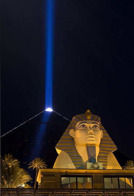 Luxor Hotel & Casino, Las Vegas, Nevada on the Vegas Strip, Nevada, USA.   Stayed there on one trip.