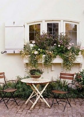 French Country Garden Cottage love the window box