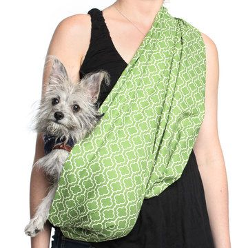 """My design inspiration: Pet Sling Pod Green on Fab. Sizing is based on the wearer, not the size of your pet. Most people wear the same size sling as their T-shirt. S/M measures: L 25.5"""" W 20"""". L/XL measures: L 28.5"""" W 20"""". $$32"""