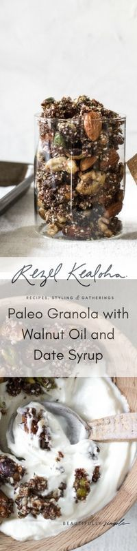 Paleo Granola with Walnut Oil and Date Syrup #paleo #granola