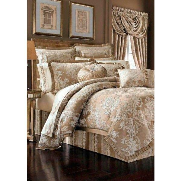 j queen new york sand celeste queen comforter set 258 liked on polyvore