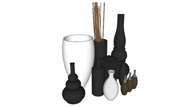Large preview of 3D Model of Vases