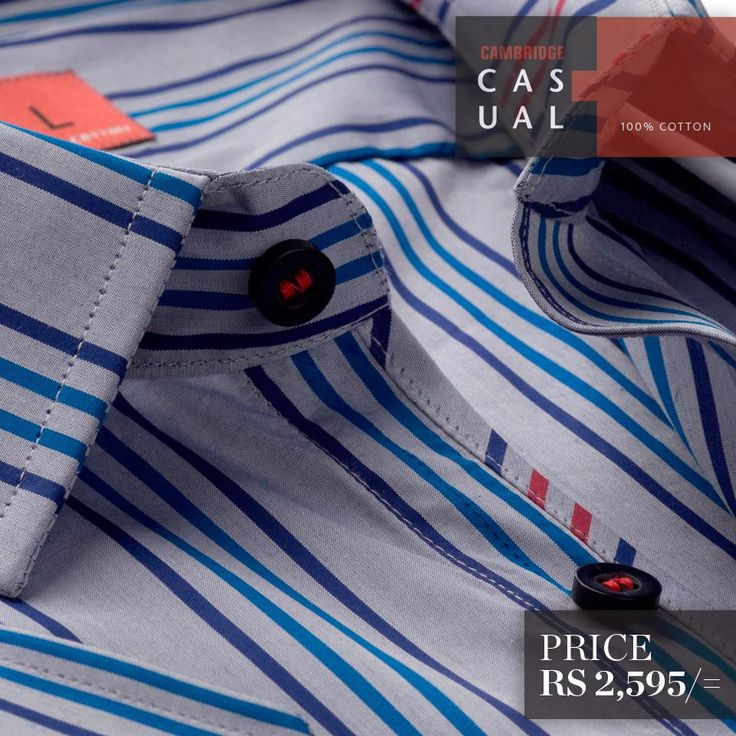 Semi-formal pure cotton shirts. Available in stripes and checks - L/Purple  Shop Now : http://goo.gl/L5Rcbb