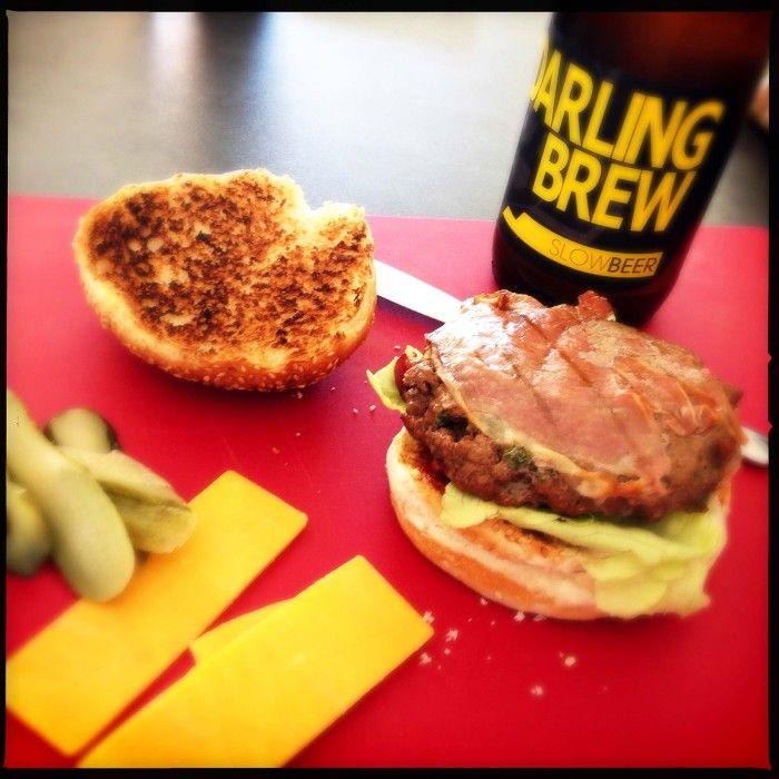 Gourmet beef burger - Donna Hay