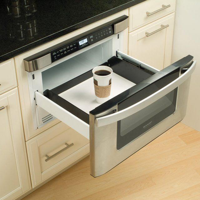 Built-In Microwave Drawer - I would most likely make a complete mess by closing it too hard - but it's really cool!