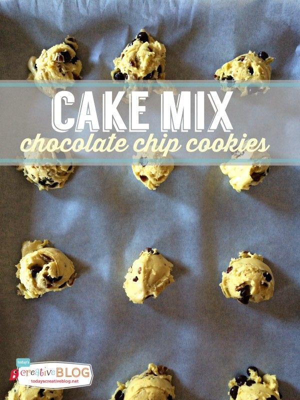 Cake Mix Chocolate Chip Cookie Recipe | Easy Cookie Recipe! It's amazing what you can make using a cake mix as your base! Perfect every time. See the recipe and more on TodaysCreativeLife.com