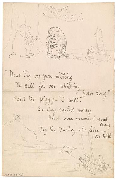 The Morgan Library & Museum Online Exhibitions - Beatrix Potter: The Picture Letters - Letter to Noel Moore, February 27, 1897, page 4