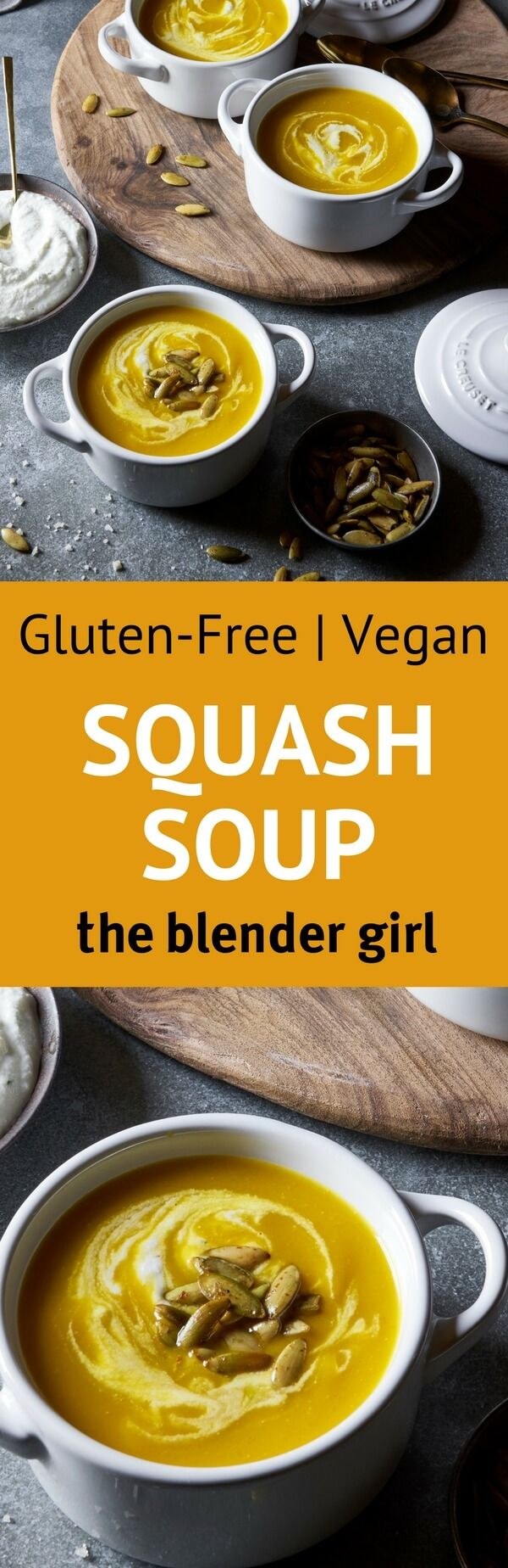 Looking for awesome gluten free vegan thanksgiving recipes? This vegan roasted squash soup from Candle 79 rocks!
