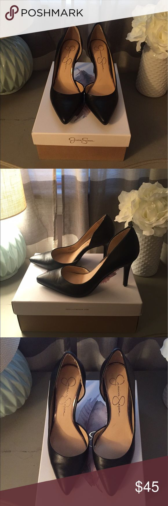 Jessica Simpson black pumps Great shoes, never worn! I have this exact shoe in several other colors and they are very comfortable. I bought a half a size too small thinking I could make it work but they are simply too small for me :( Jessica Simpson Shoes Heels