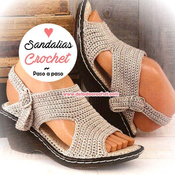 Como tejer sandalias crochet con suela de poliuretano