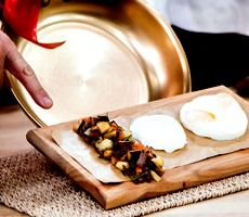 Dean McDermott's Lamb Hash over Poached Eggs
