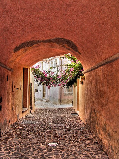You're here, and when you go through them, you're there. They're beautiful, meaningful or just fun. They're doors, roads, bridges, corridors, wardrobes, or event horizons.     Mediterranean Alley in Orosei, Sardinia | Italy (by LucaPicciau)