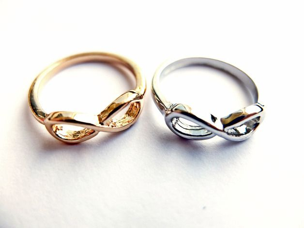 Infinity Ring Unendlich Love Ring Silber & Gold