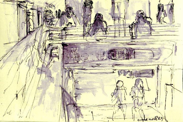sketch in metro