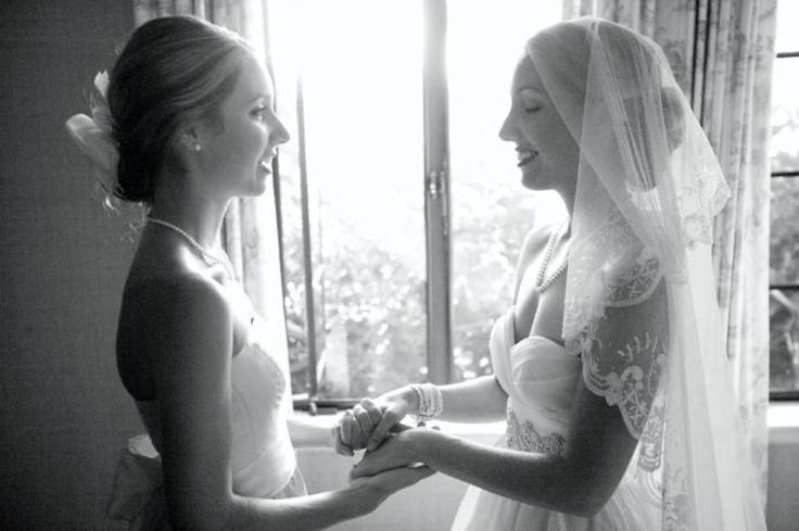 bride and maid of honor before the wedding. I want a pic like this with you, mom!!! <3
