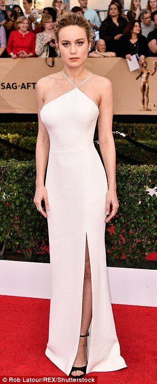 Epitome of glamour: Viola Davis (in custom Vivienne Westwood), Brie Larson (in Jason Wu) andKirsten Dunst (Dior) stunned in white
