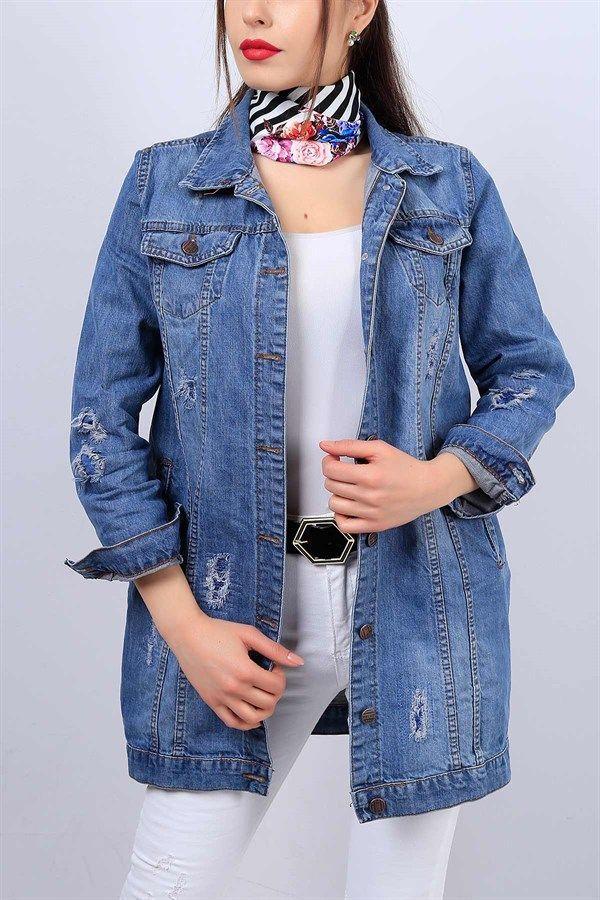 Mavi Bayan Boy Friend Kot Ceket 12839b 12839b Bayan Boy Ceket Friend Kot Tesettur Jean Modelleri 2020 In 2020 Denim Jacket Fashion Clothes For Women