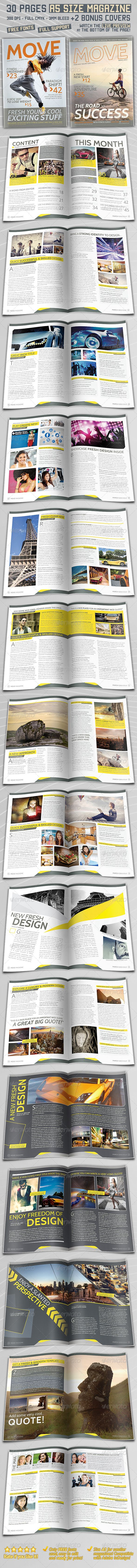 DOWNLOAD:  https://graphicriver.net/item/a5-magazine-30-pages-2-covers/4157872?ref=StormDesigns  A5 Modern Magazine template for Adobe InDesign!