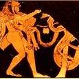 Heracles, Atlas & the Hesperian Dragon | Greek vase painting