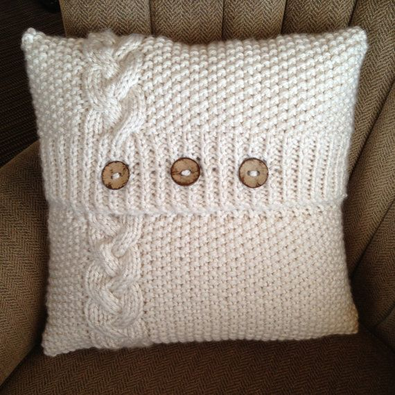 1000+ ideas about Knitted Pillows on Pinterest Knitted cushions, Knitted cu...