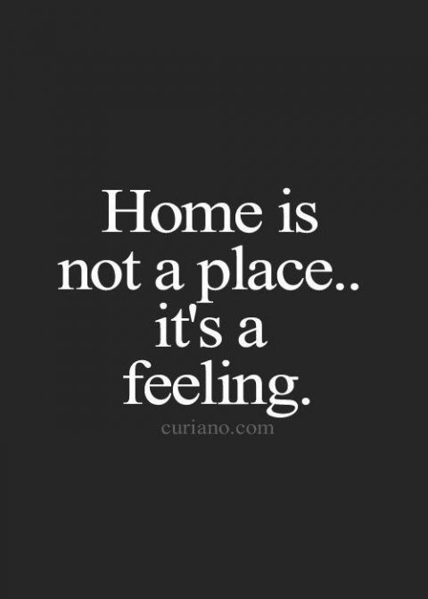 "Also, ""coming home should feel like a big hug at the end of a long day."""