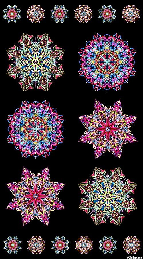 Paula Nadelstern - Fabracadabra - Crystalline Mandalas - Quilt Fabrics from www.eQuilter.com