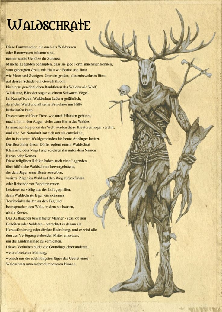 The Witcher 3 Waldschrate   Mythical creatures art ...